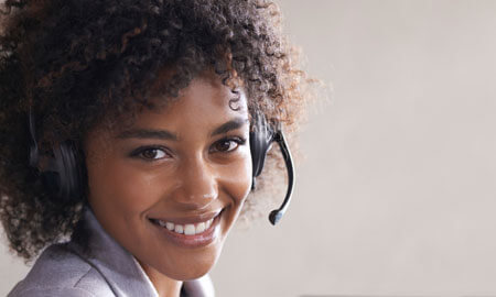 hearing aid call center woman